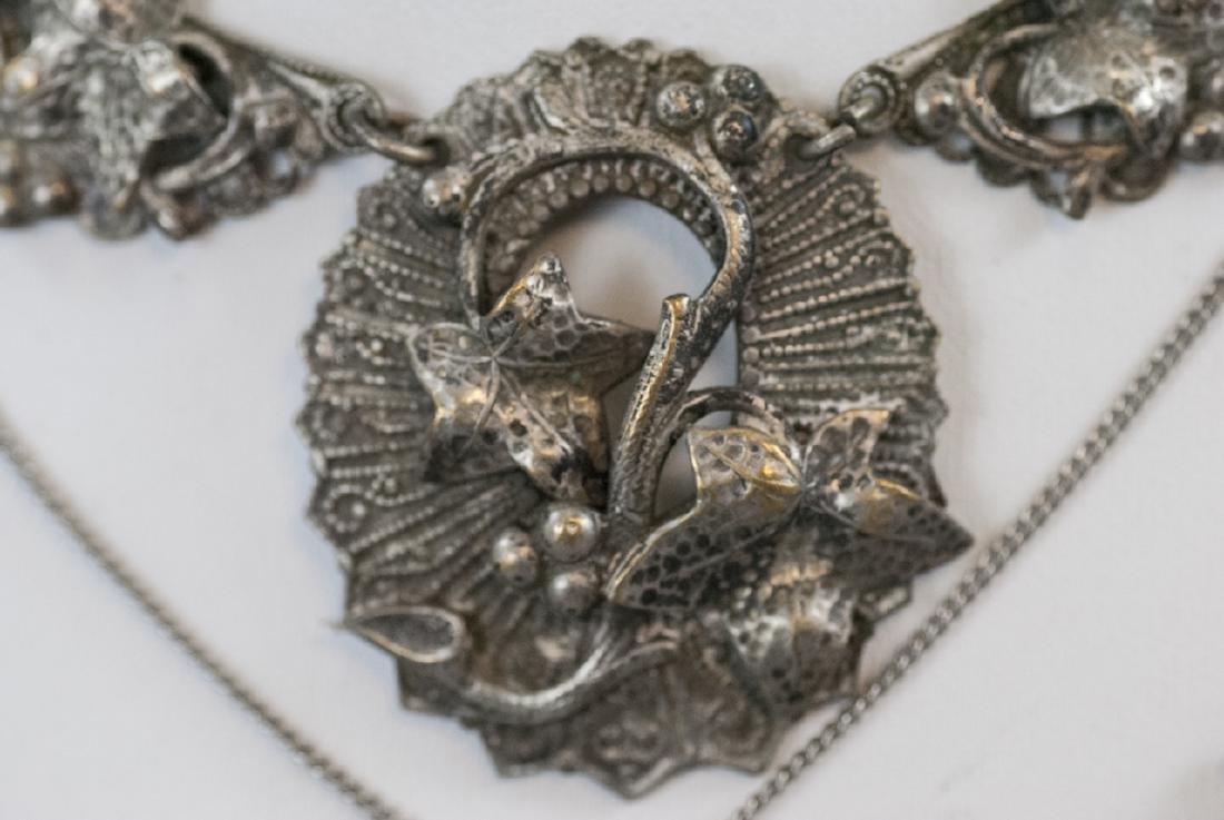 Four Antique & Vintage Costume Jewelry Necklaces - 7