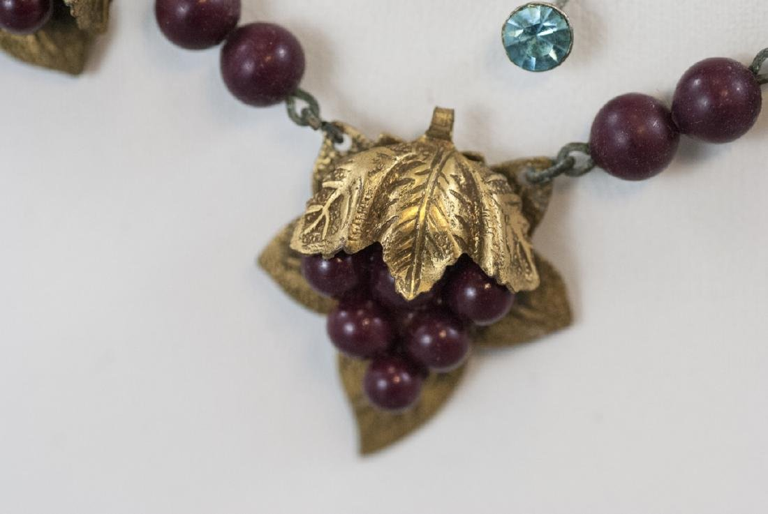 Four Antique & Vintage Costume Jewelry Necklaces - 9