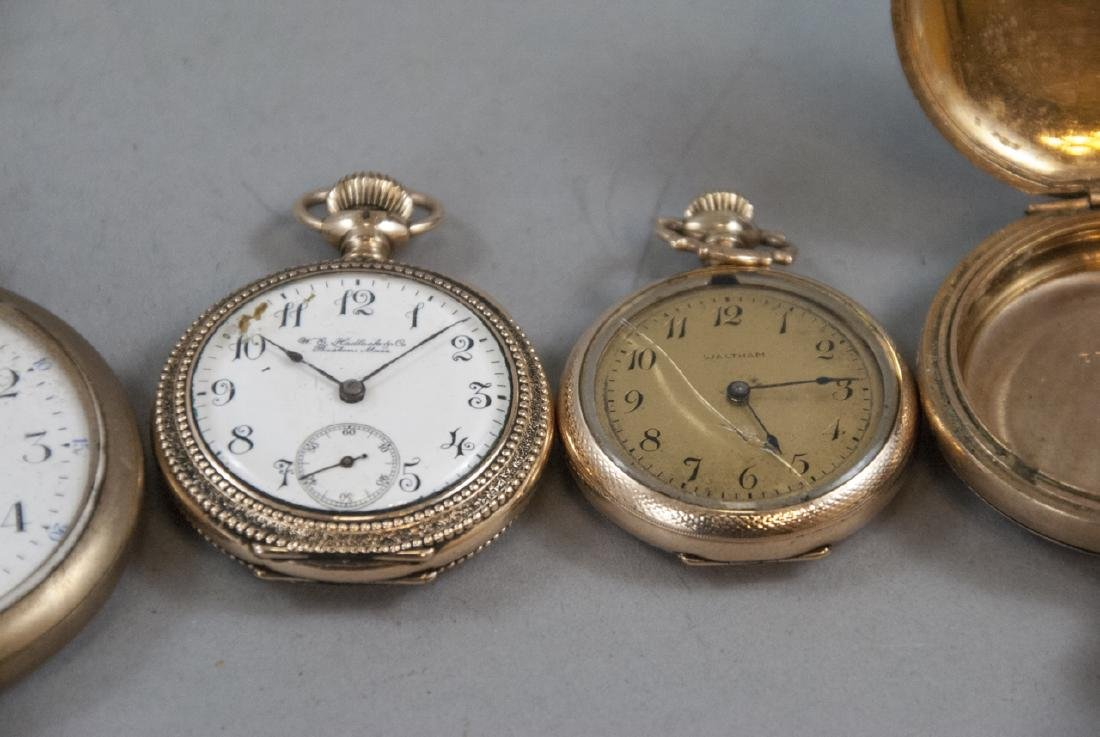 Five Antique Gold Filled Pocket Watches - 3