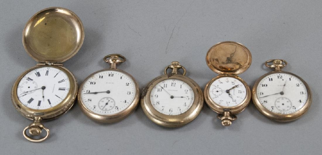 Five Antique Gold Filled Pocket Watches