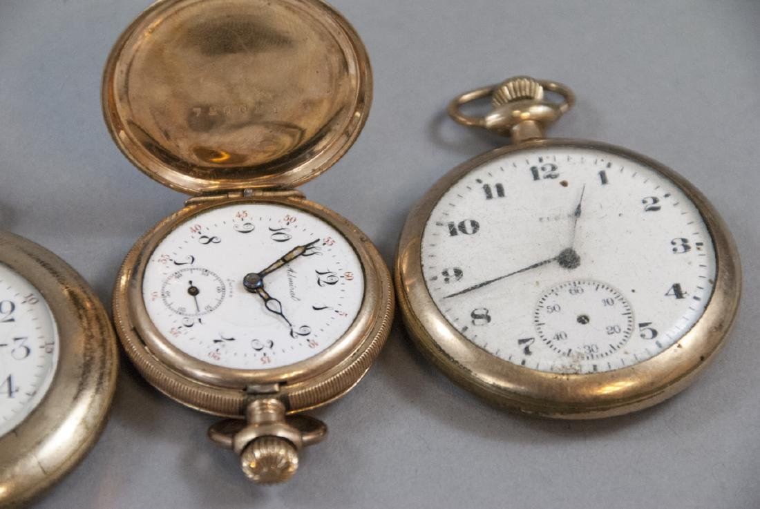 Five Antique Gold Filled Pocket Watches - 2