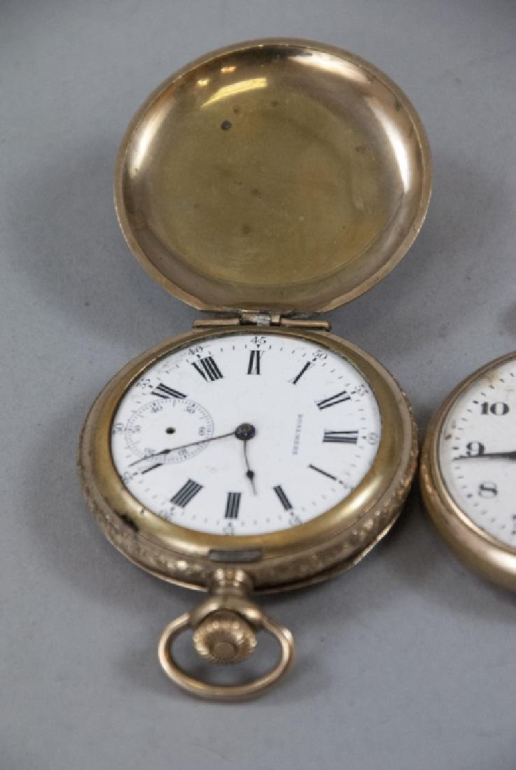 Five Antique Gold Filled Pocket Watches - 6