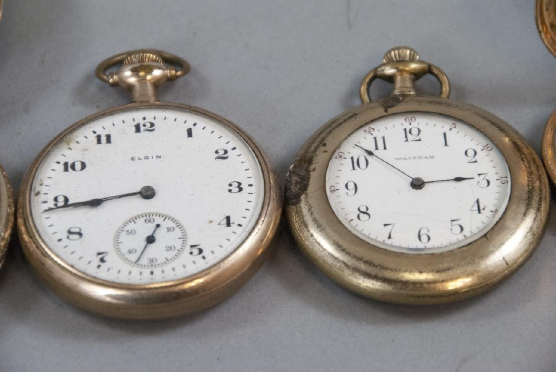 Five Antique Gold Filled Pocket Watches - 7