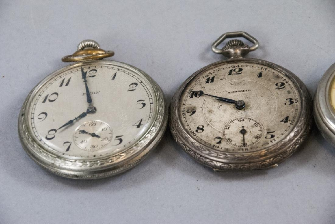 Five Silver & Silver Plate Pocket Watches - 2