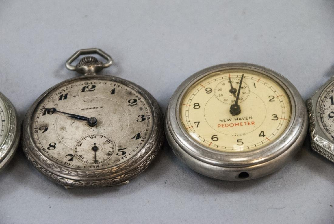 Five Silver & Silver Plate Pocket Watches - 3