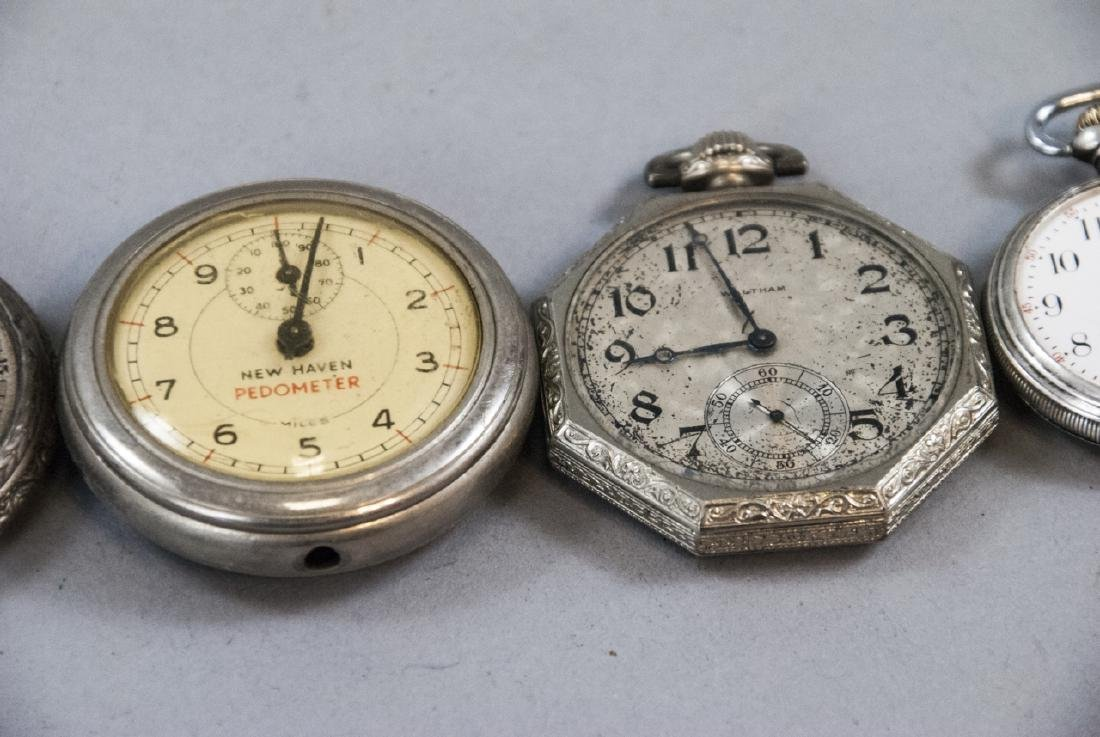 Five Silver & Silver Plate Pocket Watches - 4