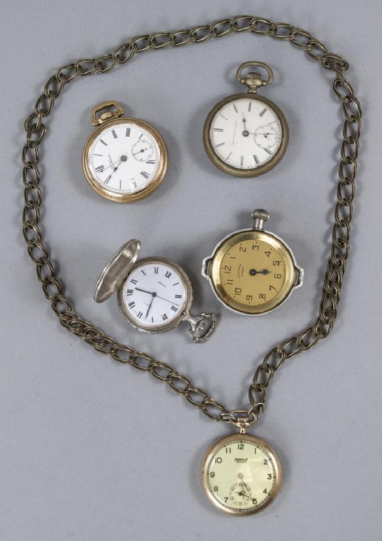 Group of Five Antique & Vintage Pocket Watches