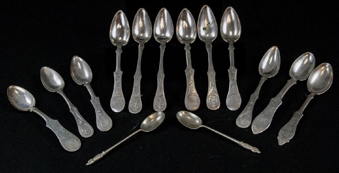 Antique Silver, Silver Plate & Pewter Spoons