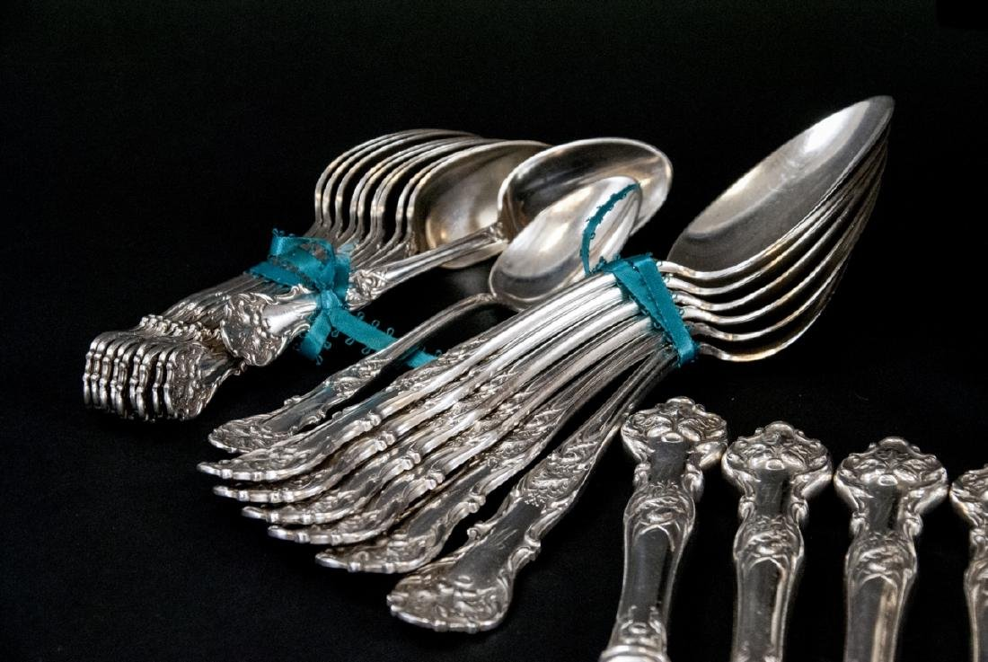Antique Rogers Bros Silver Plate Acorn Flatware - 7