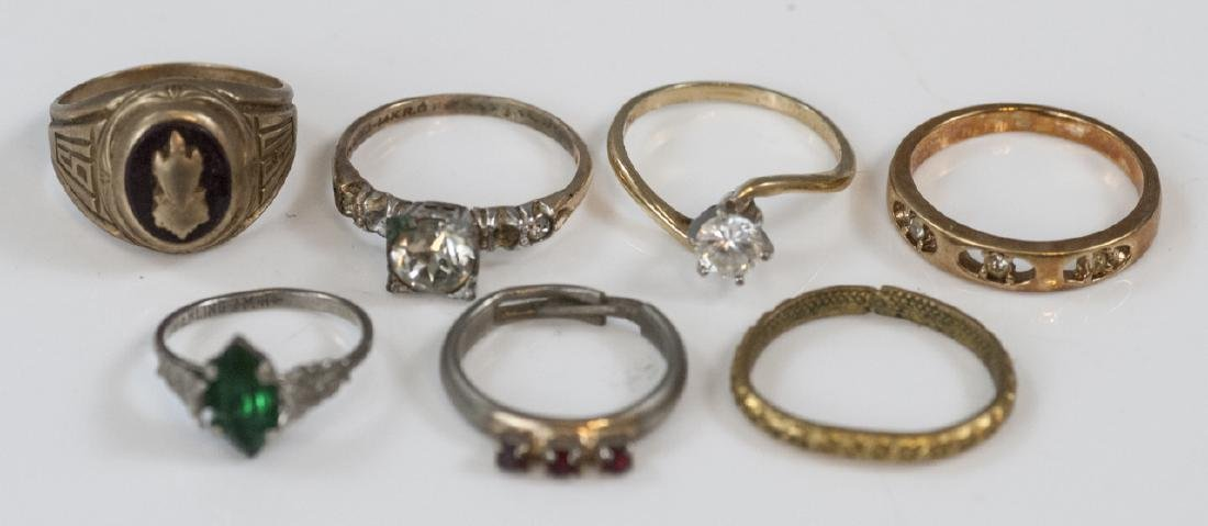 Group Antique Gold Filled, Plated & Silver Rings