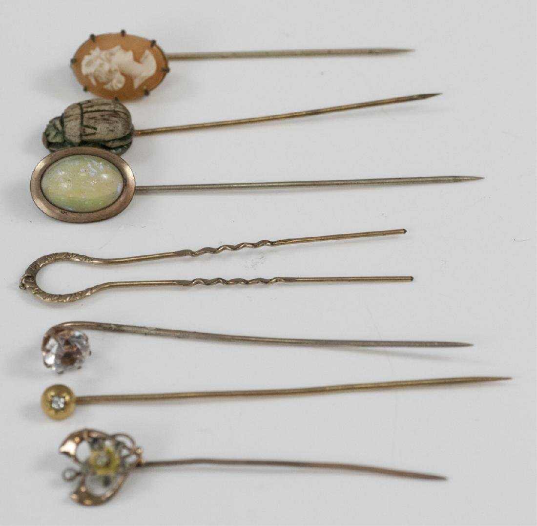 Collection Antique Yellow Gold & Gold Filled Pins