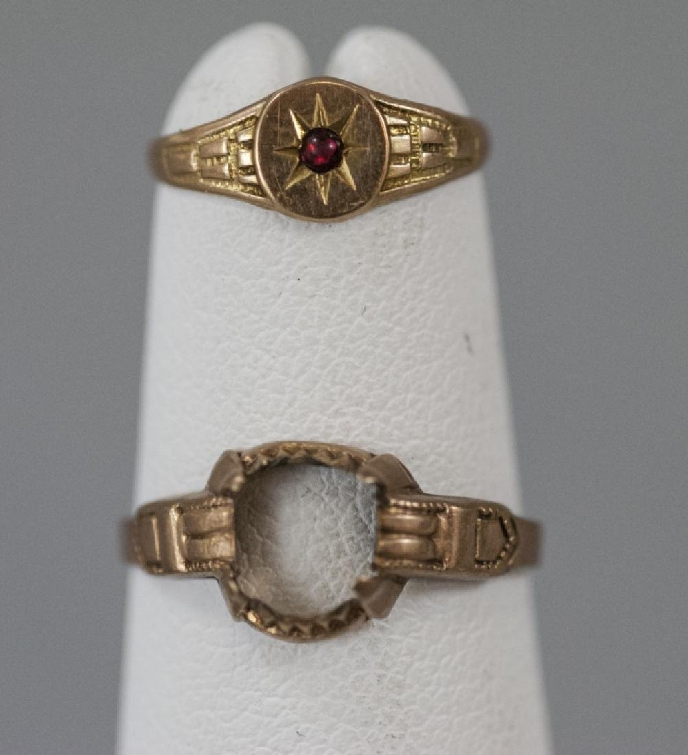 Antique 10kt & 14kt Yellow Gold Baby Rings