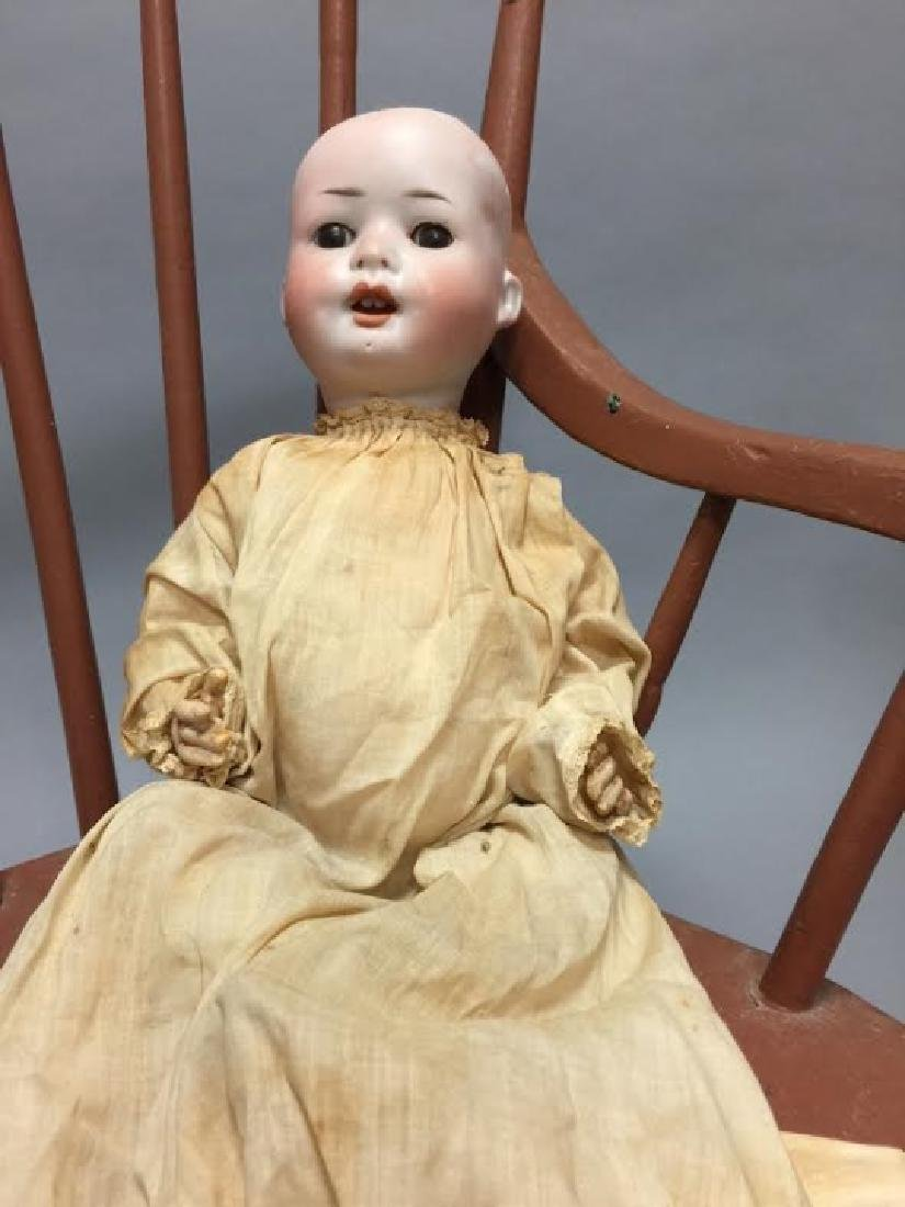 Antique German Bisque Head Baby Doll - 5