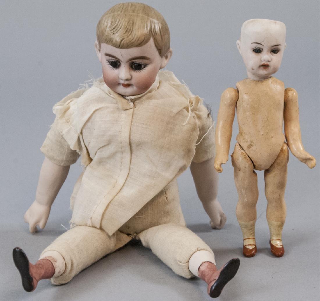 Two Antique German Bisque Head Dolls