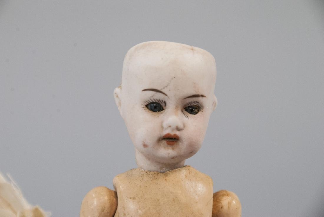 Two Antique German Bisque Head Dolls - 2