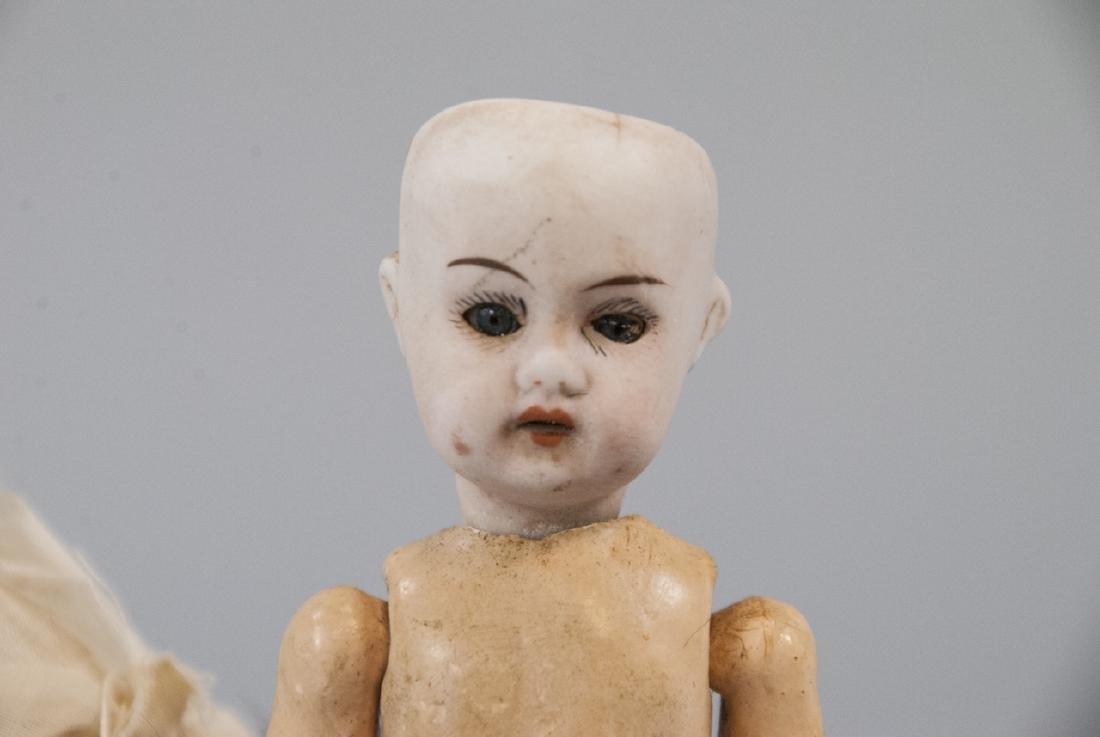 Two Antique German Bisque Head Dolls - 3
