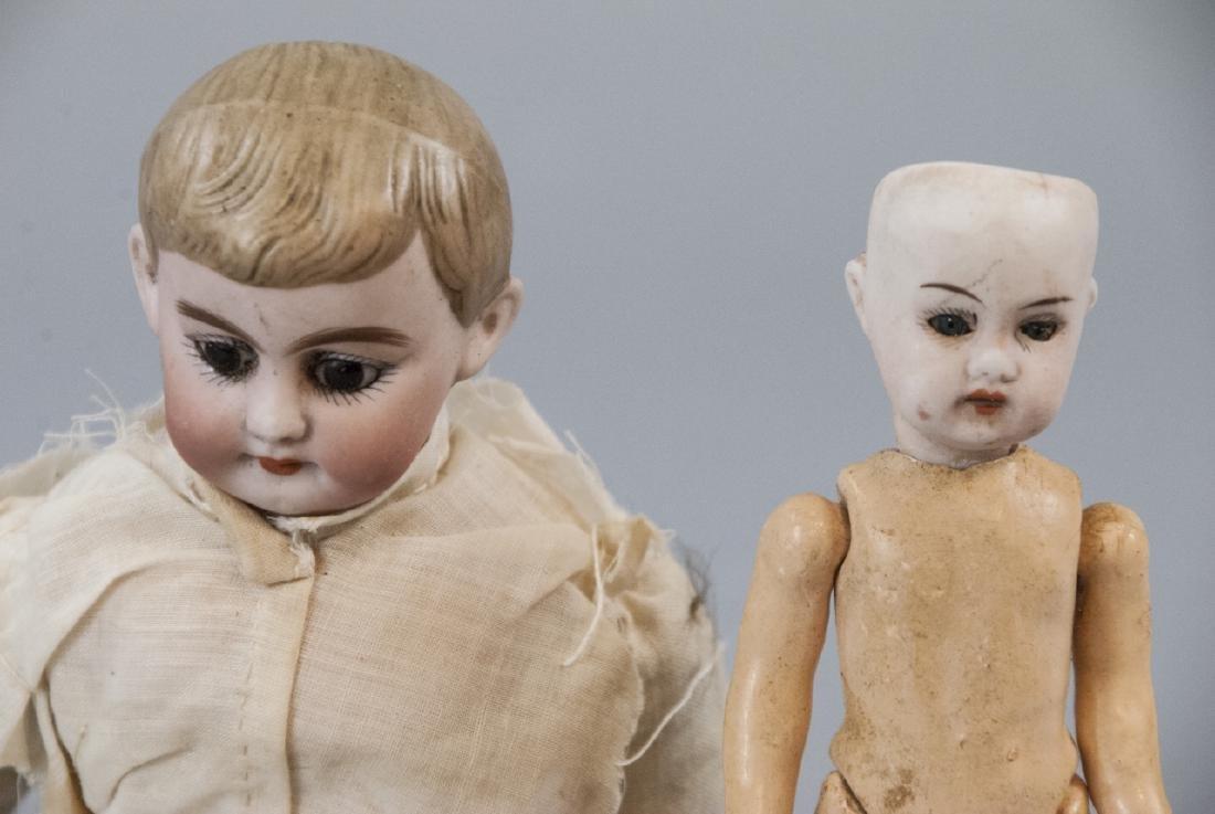 Two Antique German Bisque Head Dolls - 6