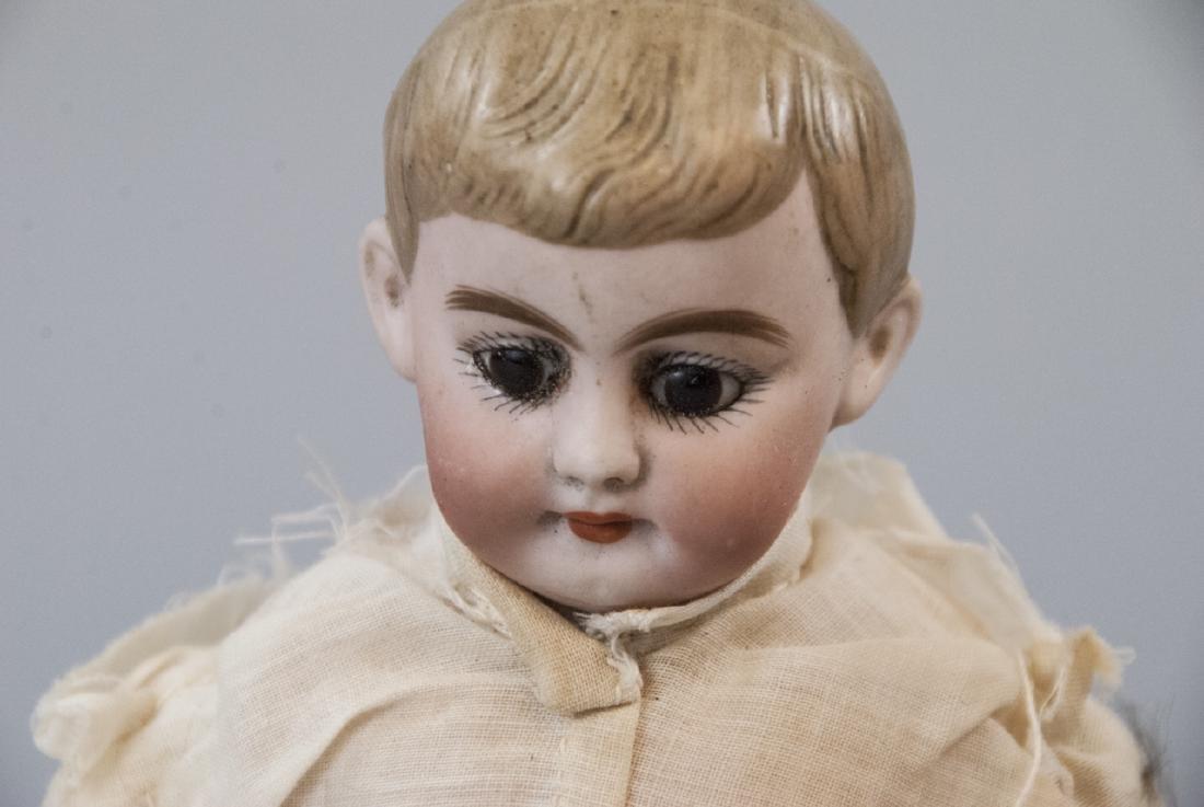 Two Antique German Bisque Head Dolls - 7