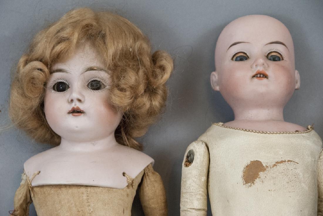 Three Antique German Bisque Head Dolls - 2