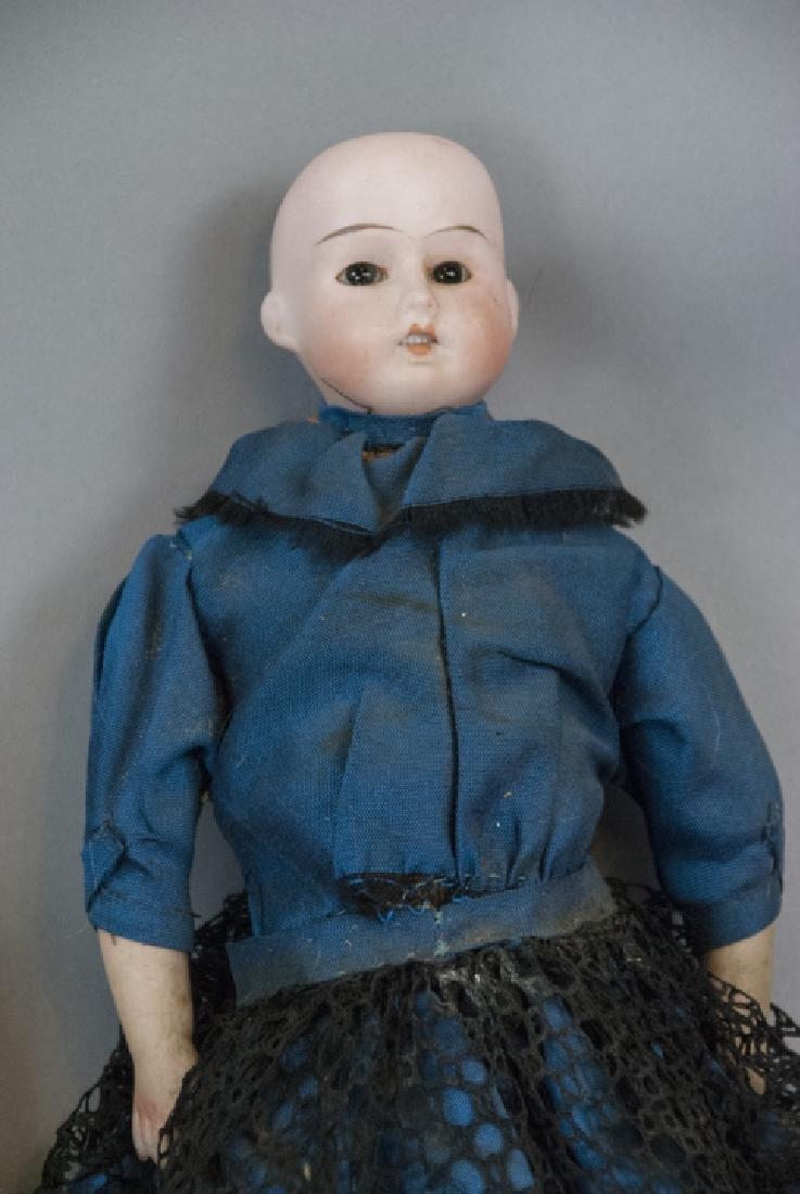Three Antique German Bisque Head Dolls - 3
