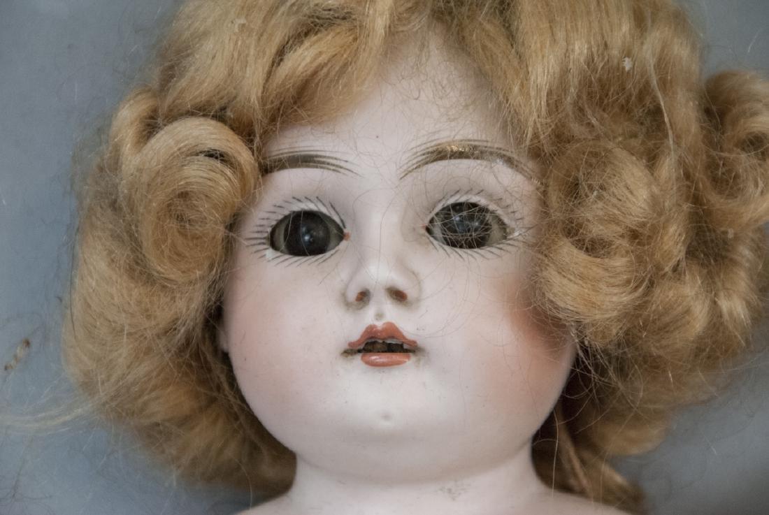 Three Antique German Bisque Head Dolls - 4