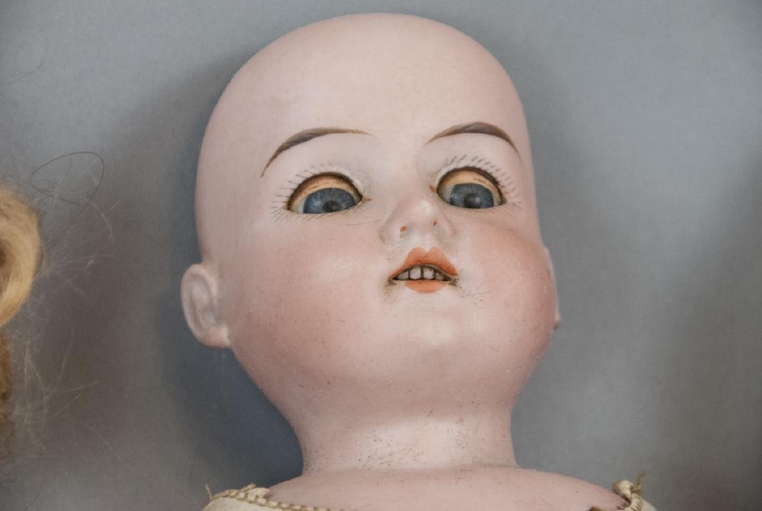Three Antique German Bisque Head Dolls - 5