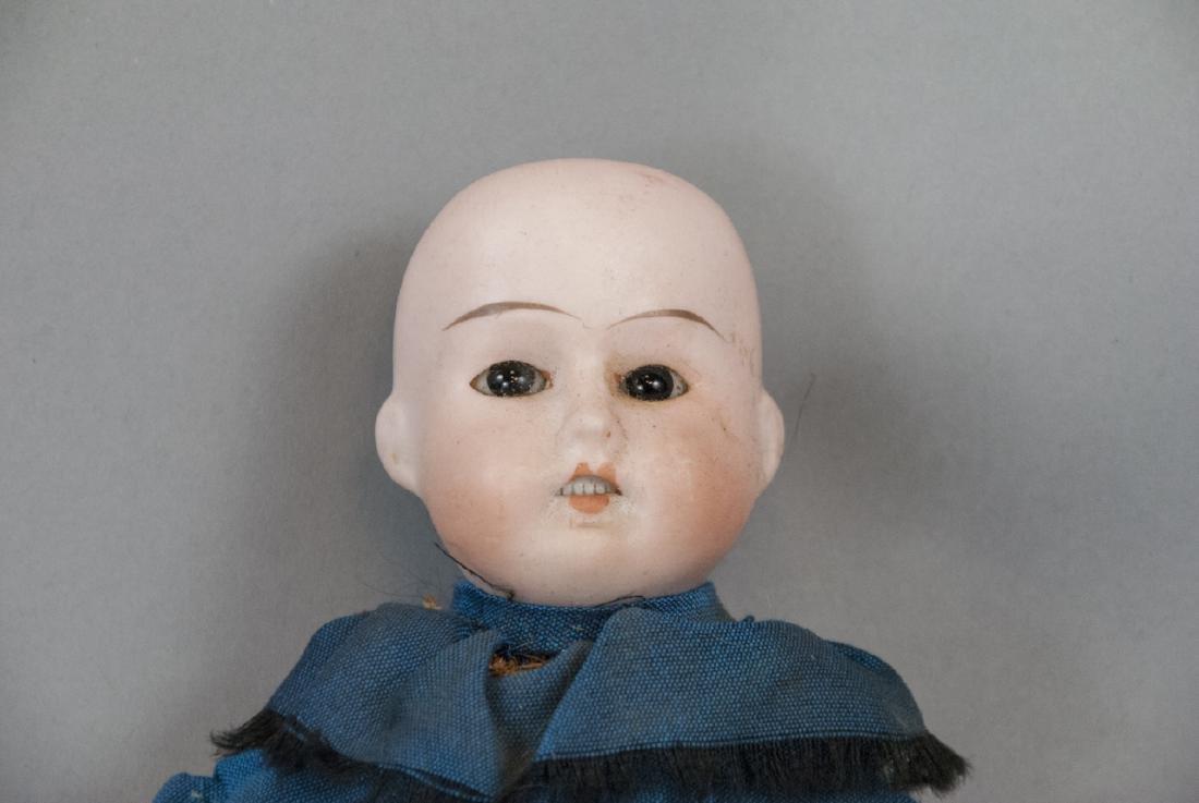 Three Antique German Bisque Head Dolls - 6