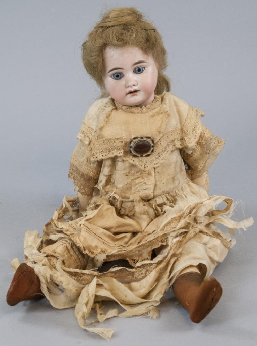 Antique AM Dep Bisque Head German Doll