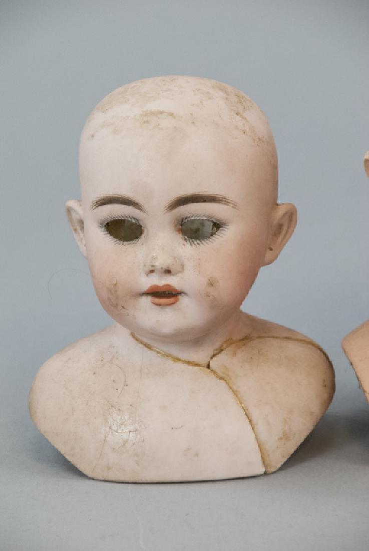 Three Antique German Shoulder w Head Dolls - 2
