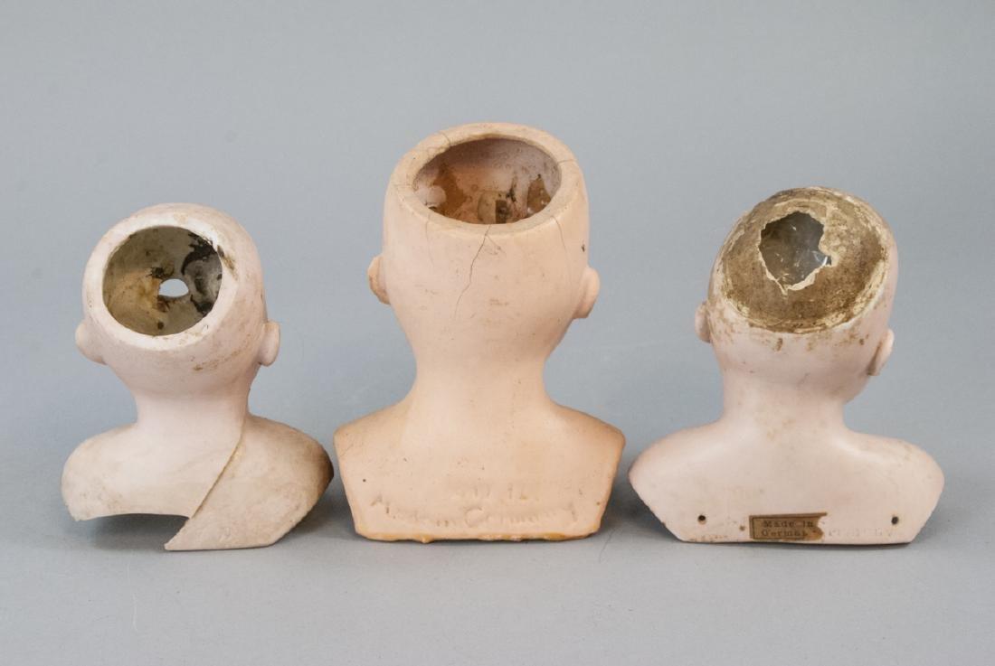 Three Antique German Shoulder w Head Dolls - 6