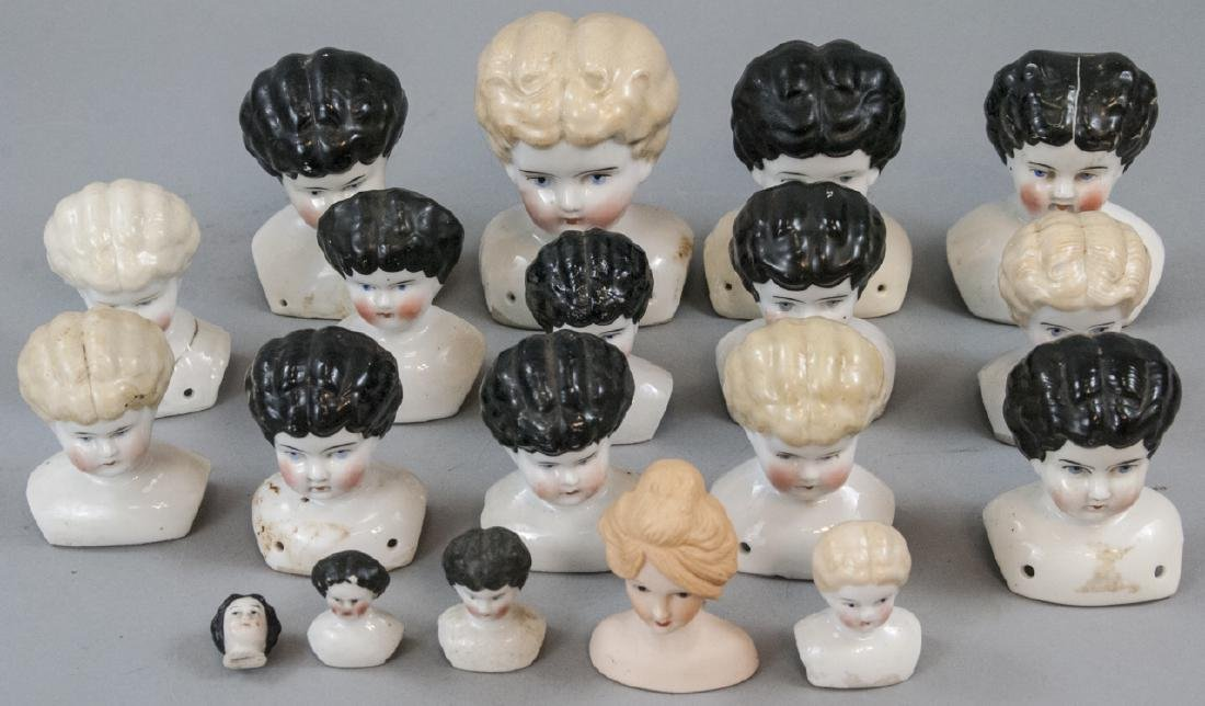 Collection of Antique & Vintage China Head Dolls
