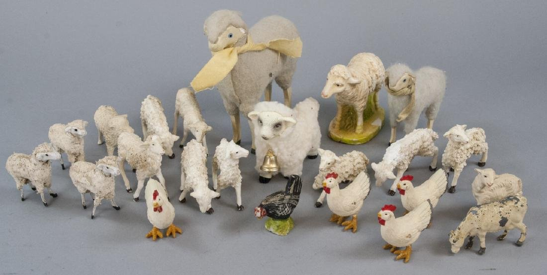 Group of Vintage Doll / Toy / Easter Sheep