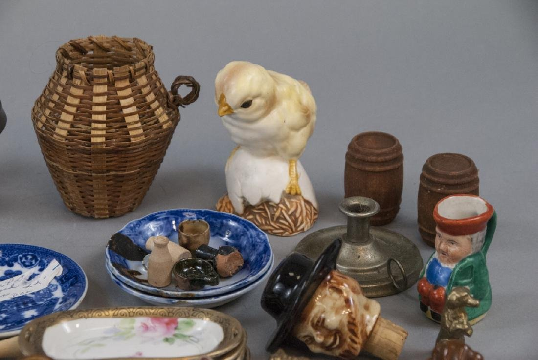 Group Antique & Vintage Dollhouse & Miniatures - 2