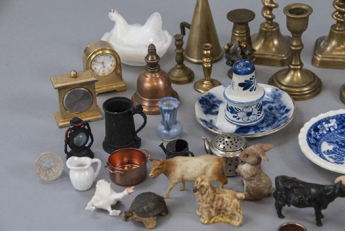 Group Antique & Vintage Dollhouse & Miniatures - 5