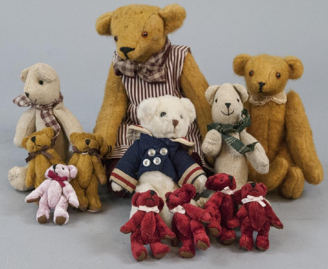 Collection of Artisan & Miniature Teddy Bears