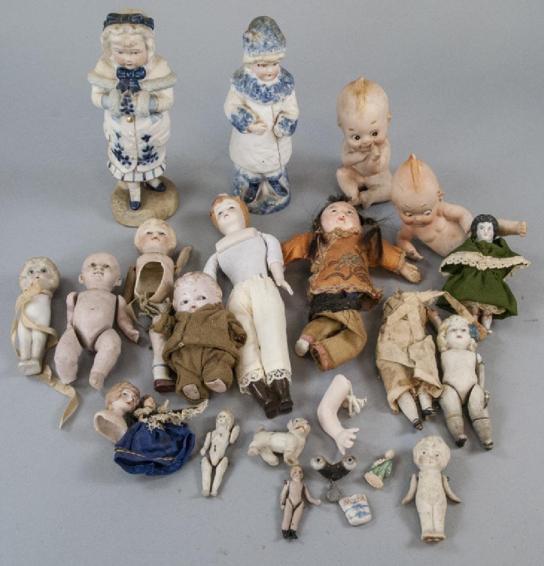Antique & Vintage All Bisques & Dollhouse Dolls