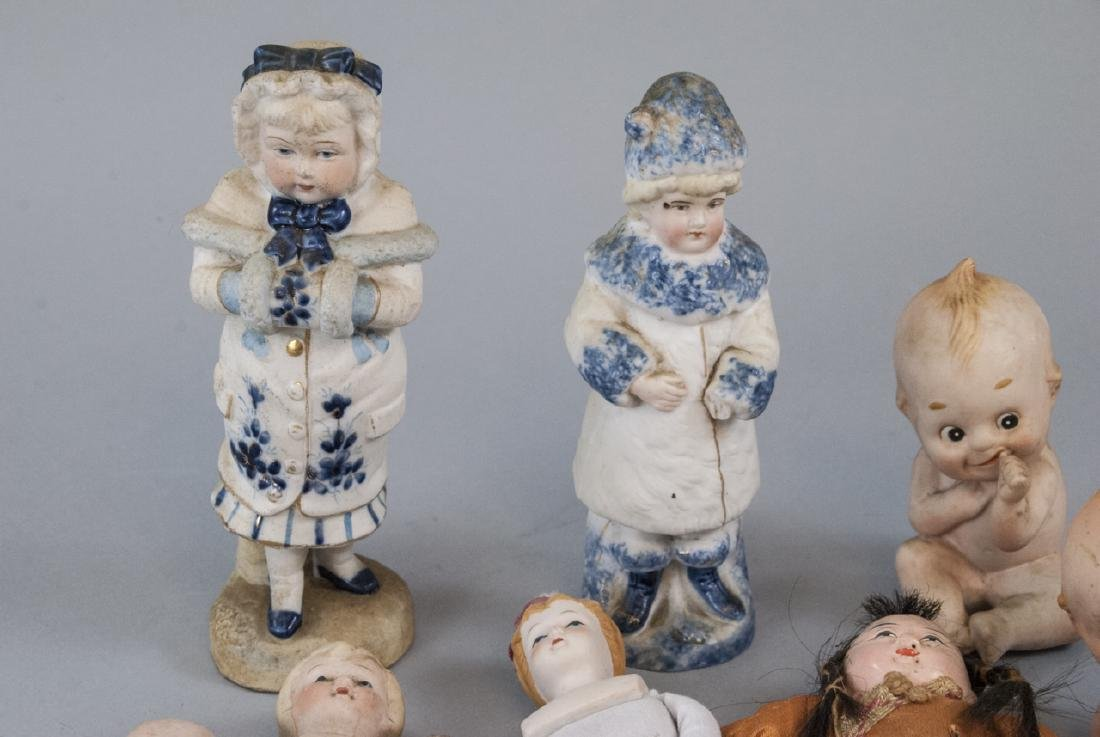 Antique & Vintage All Bisques & Dollhouse Dolls - 7