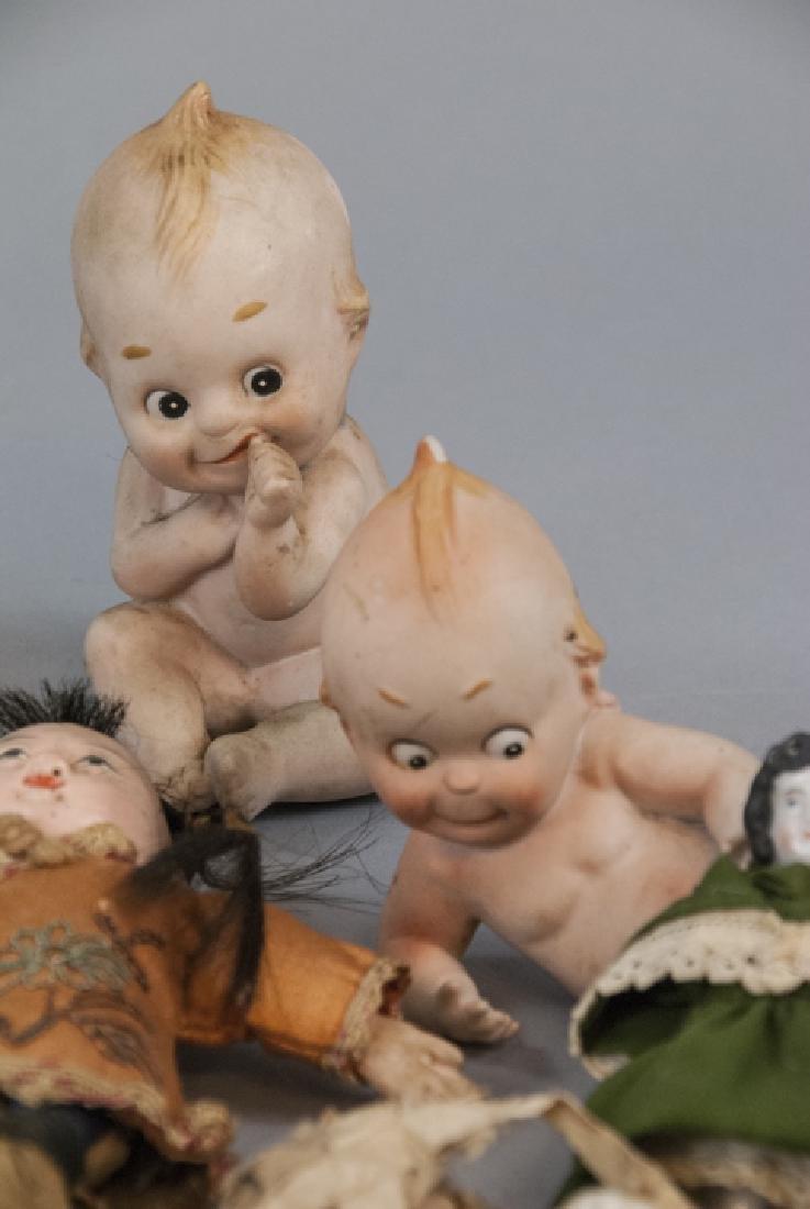Antique & Vintage All Bisques & Dollhouse Dolls - 8