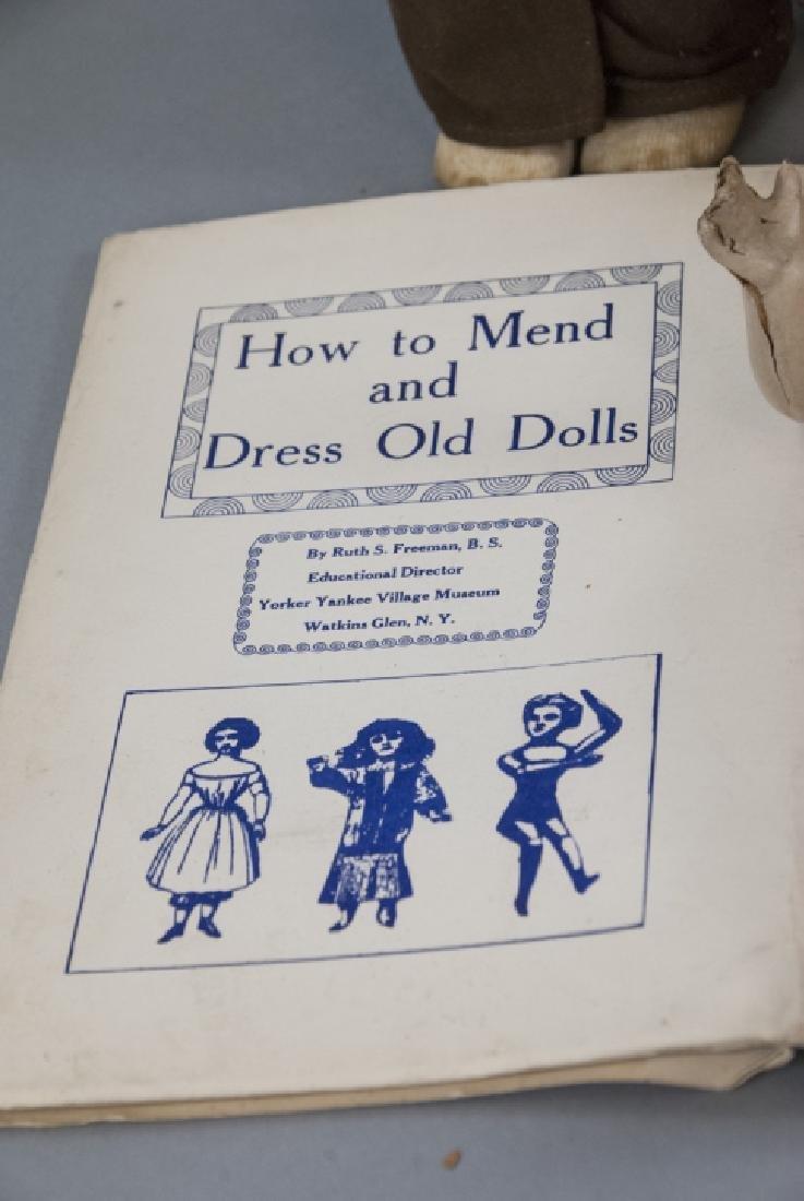 Group of Vintage Rag Dolls & Bears w Basket - 4
