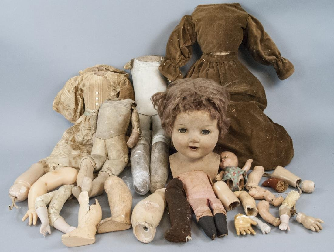 Group of Antique & Vintage Doll Body Parts
