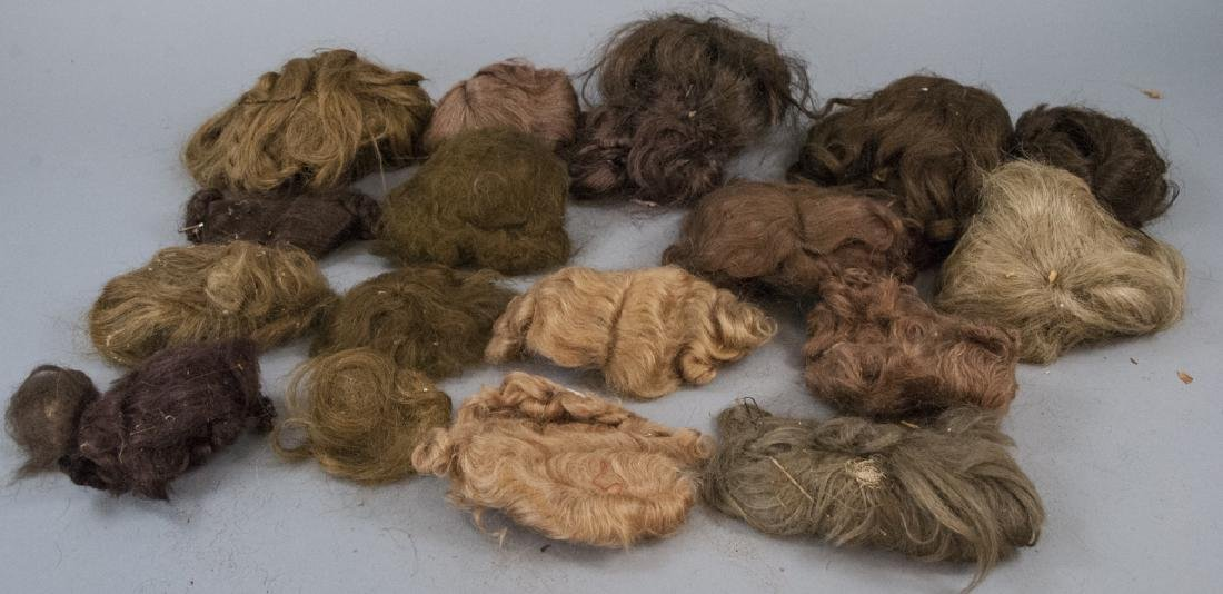 Group of Antique & Vintage Doll Wigs