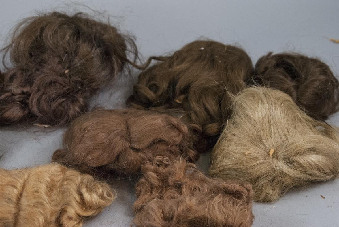 Group of Antique & Vintage Doll Wigs - 2