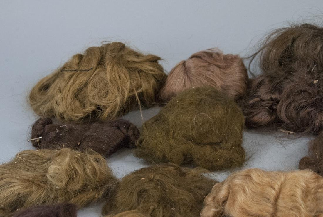 Group of Antique & Vintage Doll Wigs - 5
