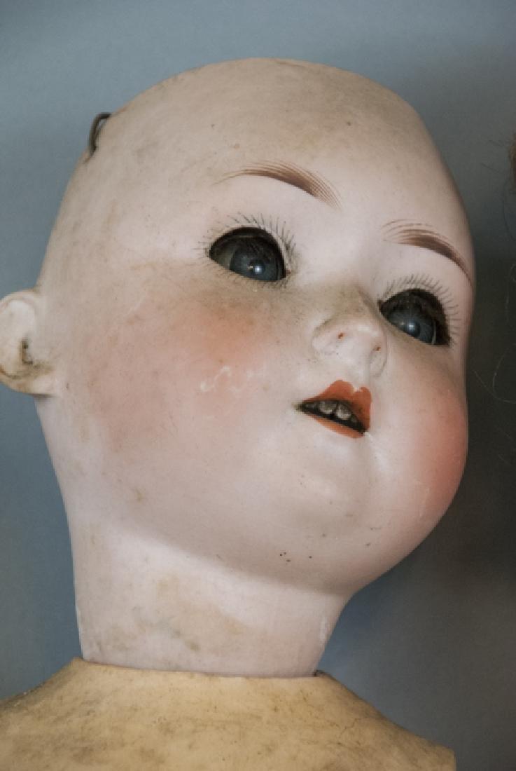 Four Antique German Bisque Head Dolls & Heads - 10