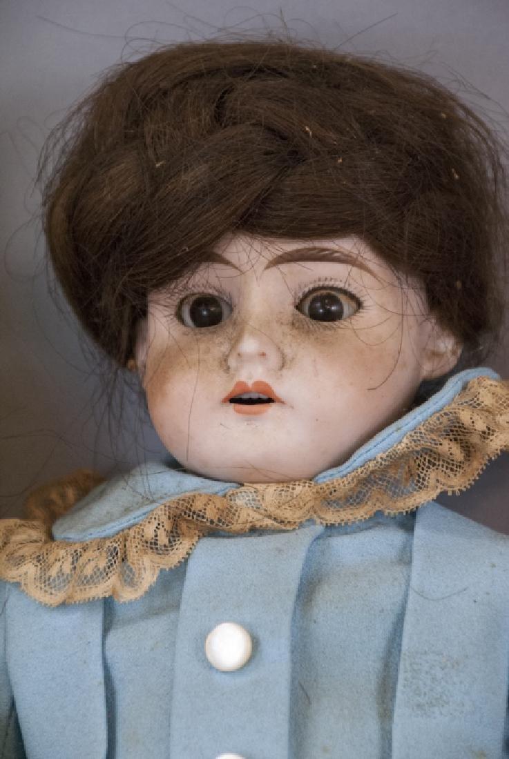 Four Antique German Bisque Head Dolls & Heads - 2