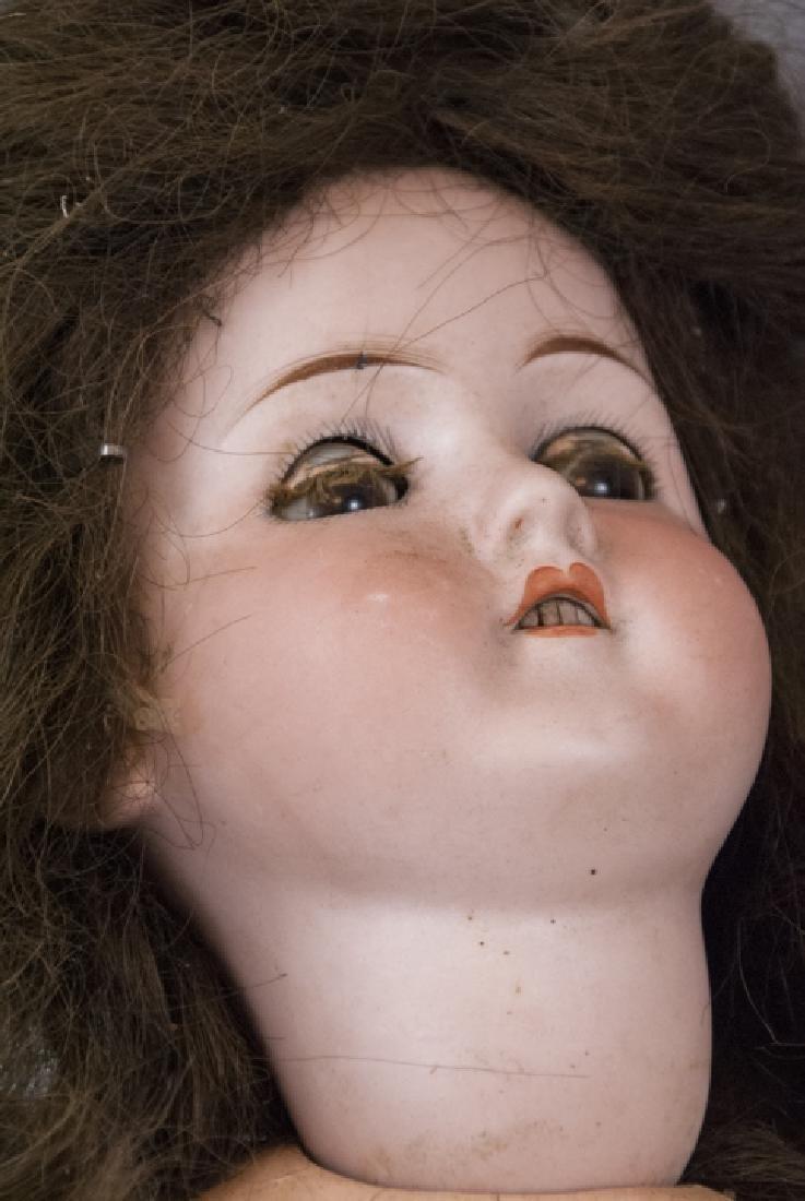 Four Antique German Bisque Head Dolls & Heads - 3