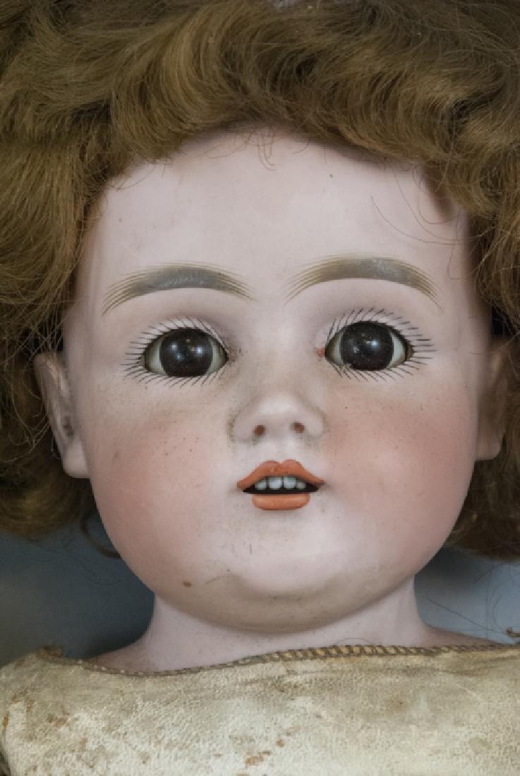 Four Antique German Bisque Head Dolls & Heads - 9
