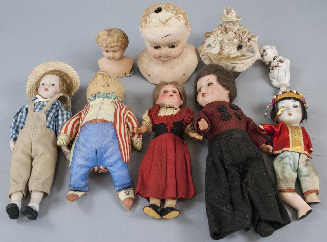 Antique & Vintage Small Dolls & Doll Head