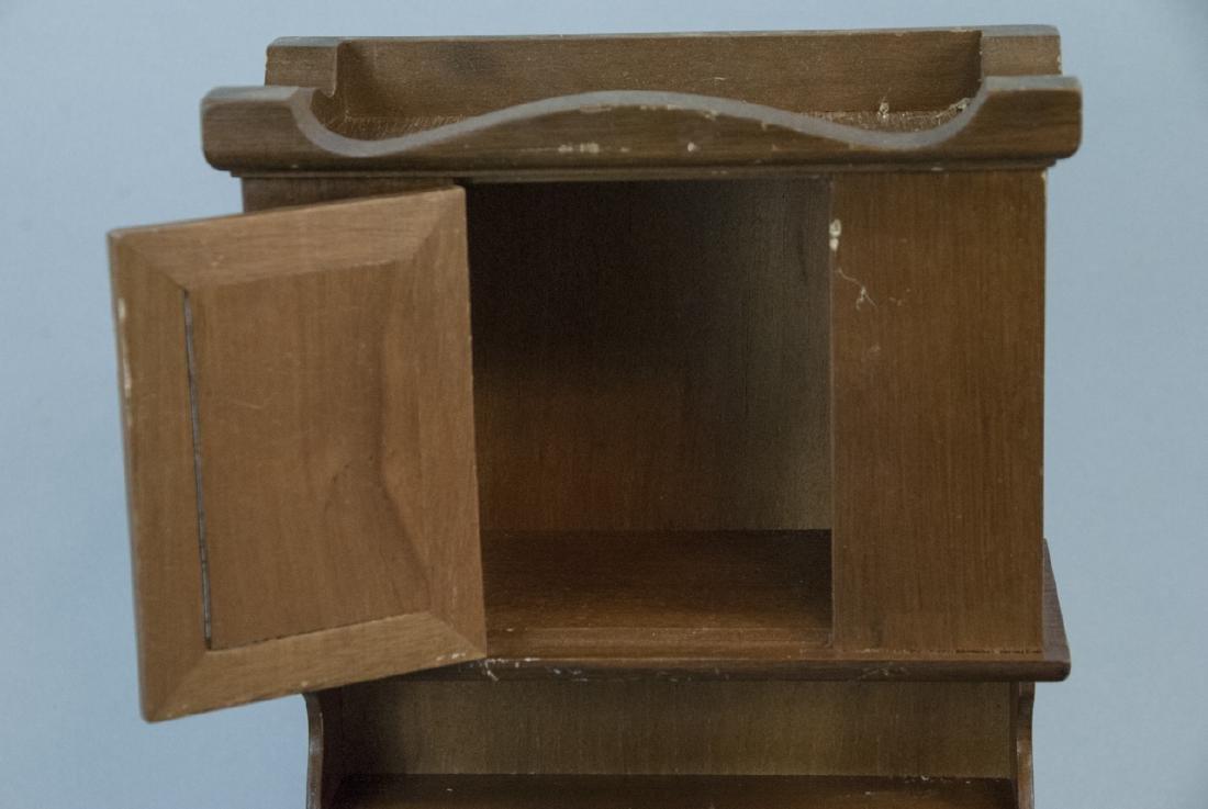 Three Cast Iron Doll / Miniature Stoves & Hutch - 6