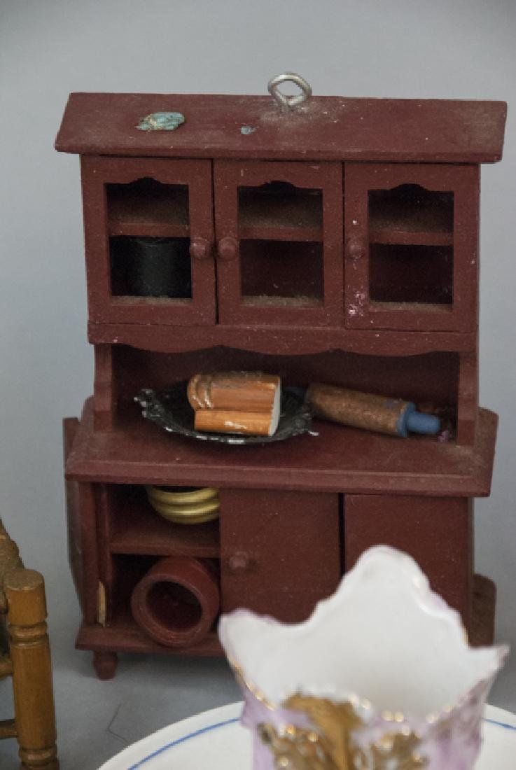 Antique Child Tea Set & Doll House / Miniatures - 2
